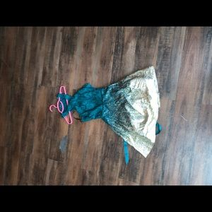 Dresses & Skirts - green and gold ombre hoco dress